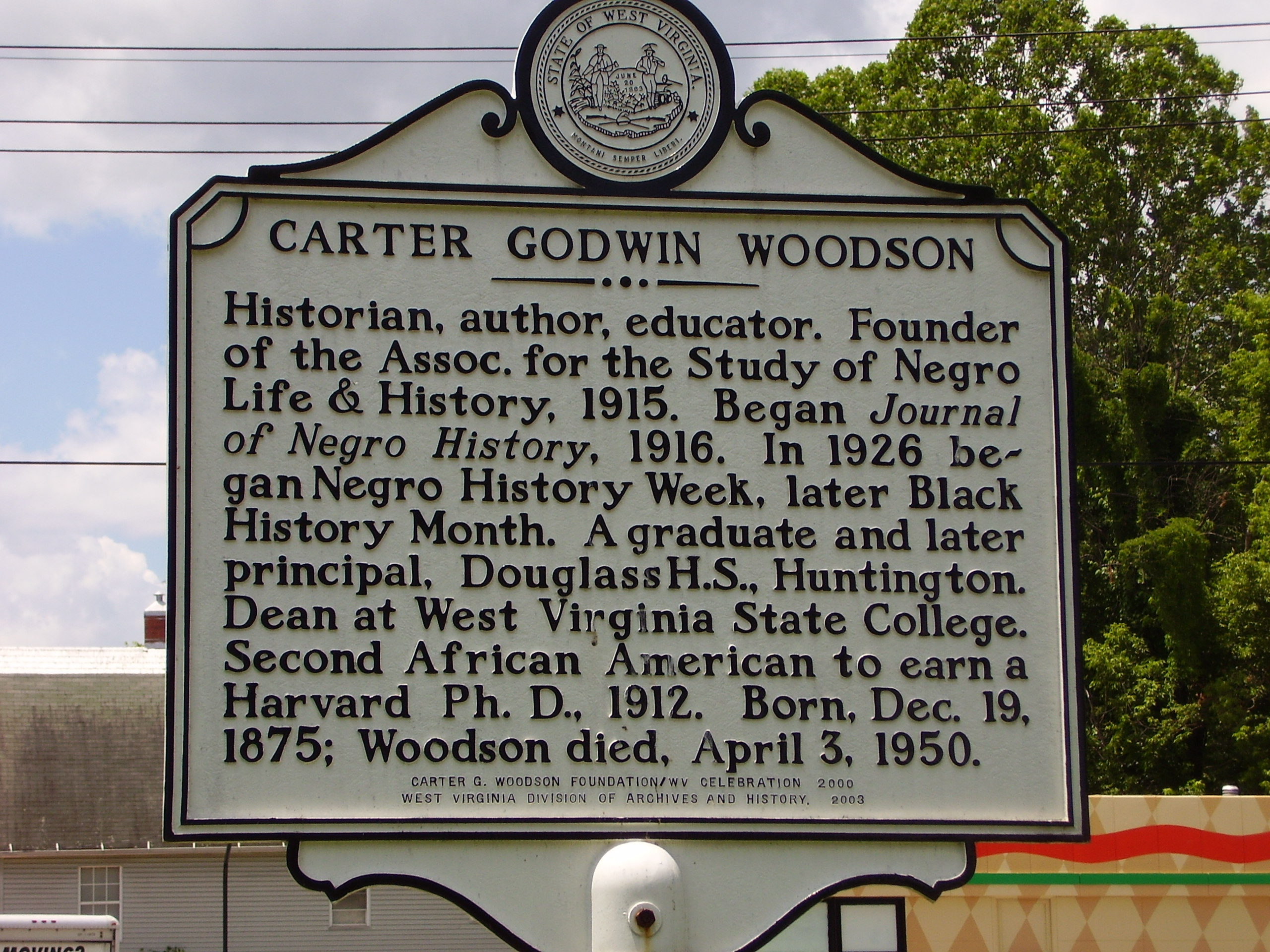 the early life story of dr carter g woodson and his life achievements These are the words of dr carter godwin woodson carter g woodson credits his father for influencing the course of his life his father.
